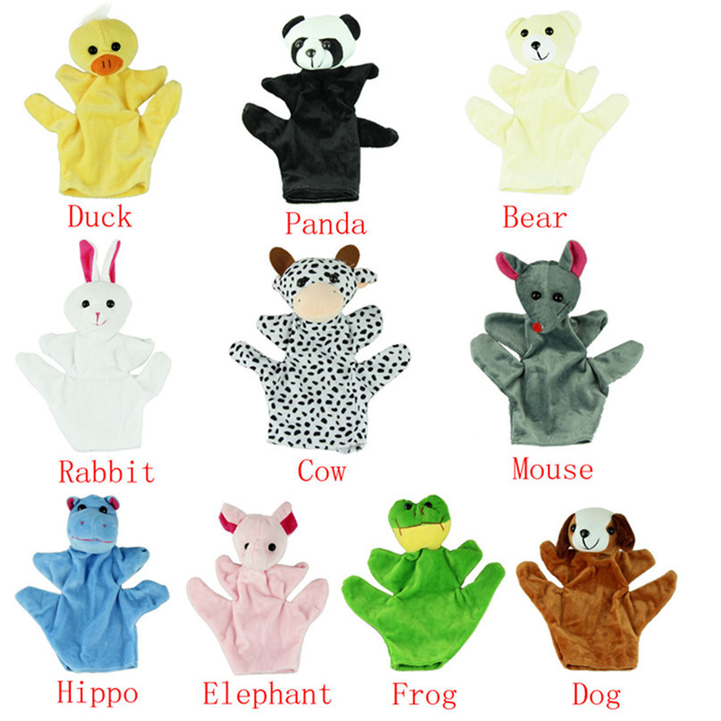 Modern Baby Child Kids Cute Big Size Animal Hand Gloves Finger Sack Plush Toys puppet Dolls Jul07(China (Mainland))
