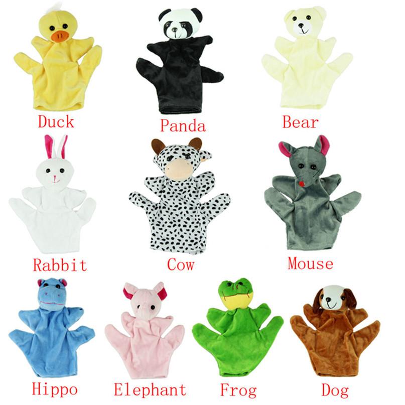 Modern Baby Child Kids Cute Big Size Animal Hand Gloves Finger Sack Plush Toys puppet Dolls Jul07(China (Mainland))