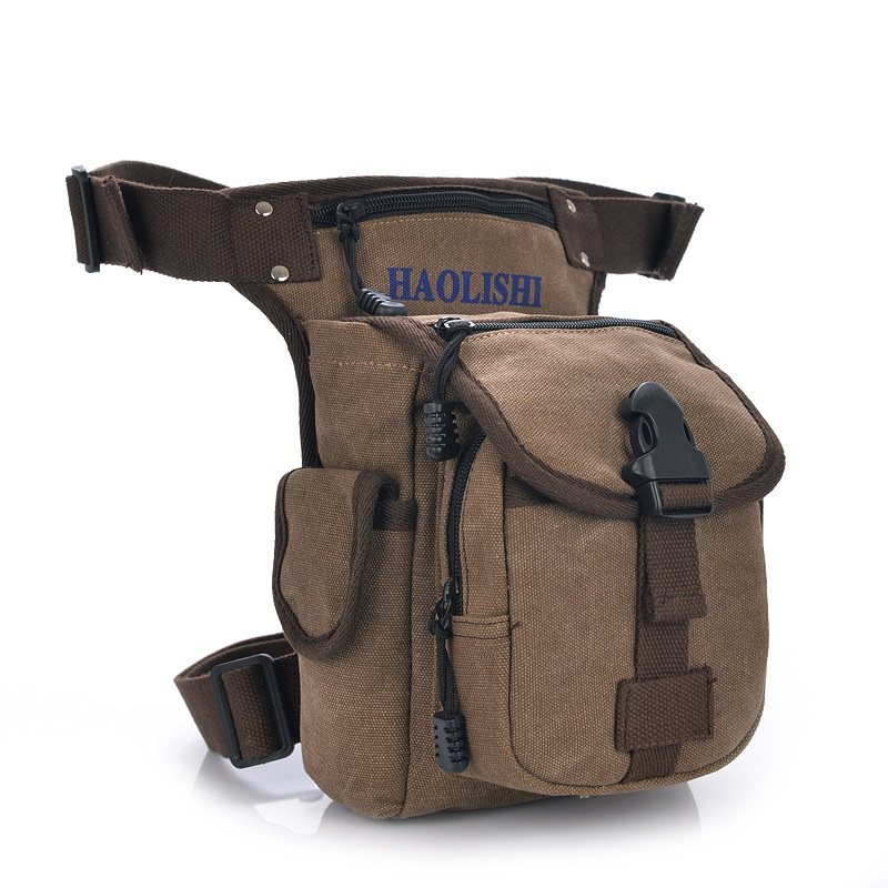 Leisure washed canvas waist packs men's travel bags military equipment salomon Outdoor sports bag Brand man legs free shipping(China (Mainland))