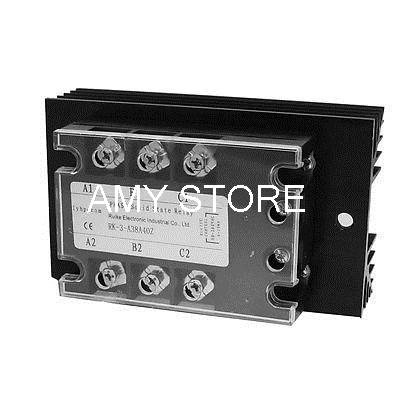 Control AC 90-280V to Load AC 380V 40A SSR Solid State Relay w Heat Sink(China (Mainland))
