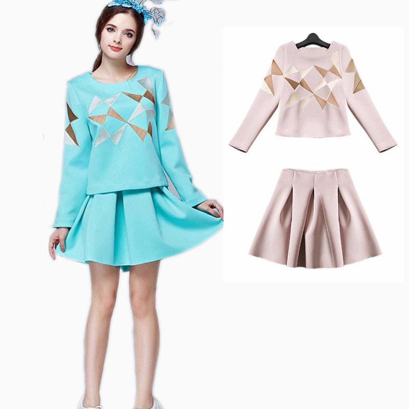 popular blue skirt suit buy cheap blue skirt suit lots