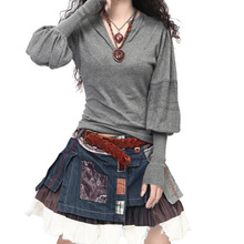 Women's Long Lantern Sleeve Cashmere Sweaters And Pullovers Female Artkas Clothing Autumn And Winter Warm Sweater Casual Jumpers(China (Mainland))