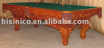 Classical Antique carving wooden pool table, snooker table,billiards(China (Mainland))