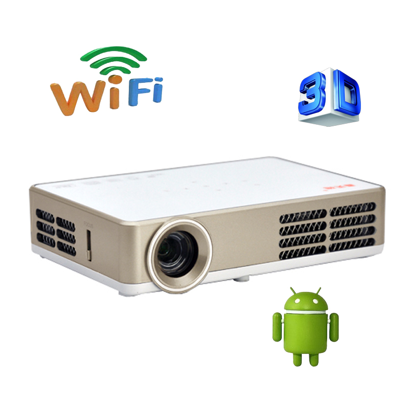 Smart Bluetooth Android 4.4 Wifi HDMI USB TF Blue Ray 4K3D Pico Portable HD 1080P LCD Video LED Mini DLP Projector For Iphone 4K(China (Mainland))