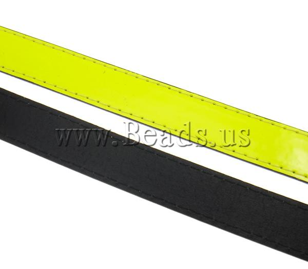 Free shipping!!!Leather Cord,Supplies For Jewelry, yellow, 20x2mm, Length:Approx 20 m, 20Strands/Ba Sold By Bag