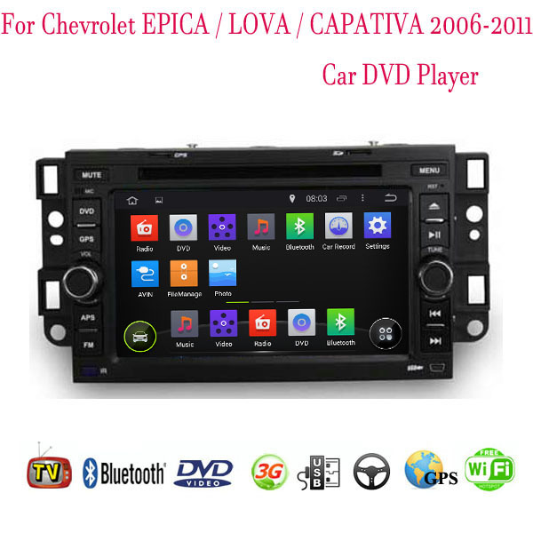 1024*600 Android 4.4.4 Fit Chevrolet EPICA LOVA CAPATIVA 2006 2007 2008 2009 2010 2011 Car DVD Player GPS TV 3G Radio WIFI(China (Mainland))
