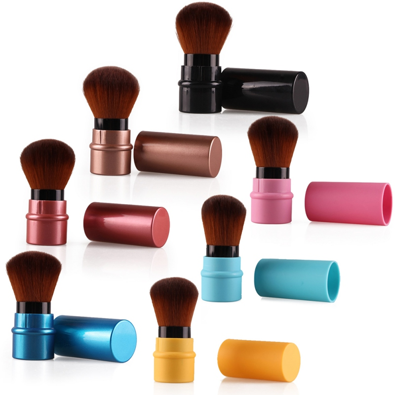 New Design 1Pcs MIni Soft Makeup Brush Retractable Pro Foundation Cosmetic Blusher Face Powder Brushes Beauty Tools(China (Mainland))