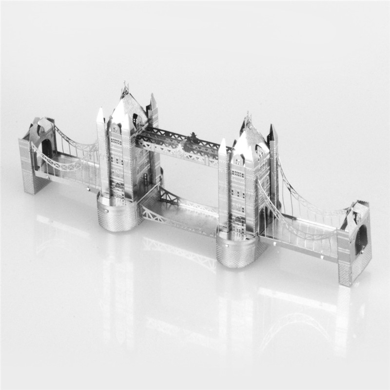 Starz Tower Bridge 3D DIY Puzzles Metal Mini Model Craft Stainless Steel Construction Building Kits Toys Gifts(China (Mainland))