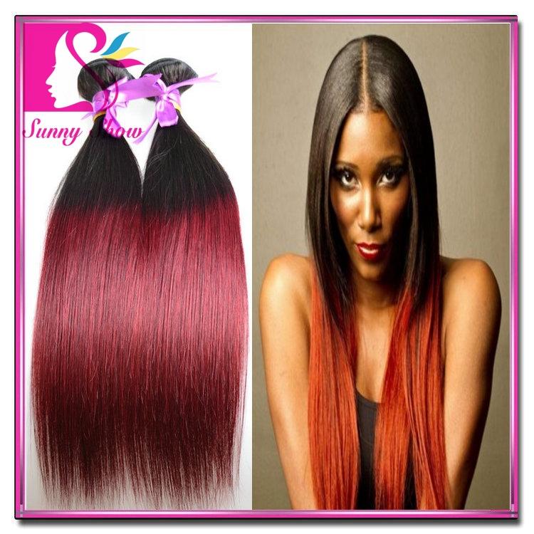 Rosa Hair Indian Ombre Straight Virgin Hair 4pcs 1b/27 1b/99j 1b/30 Two Tone Human Hair Bundles 8-30inch Mix Length Good Quality<br><br>Aliexpress