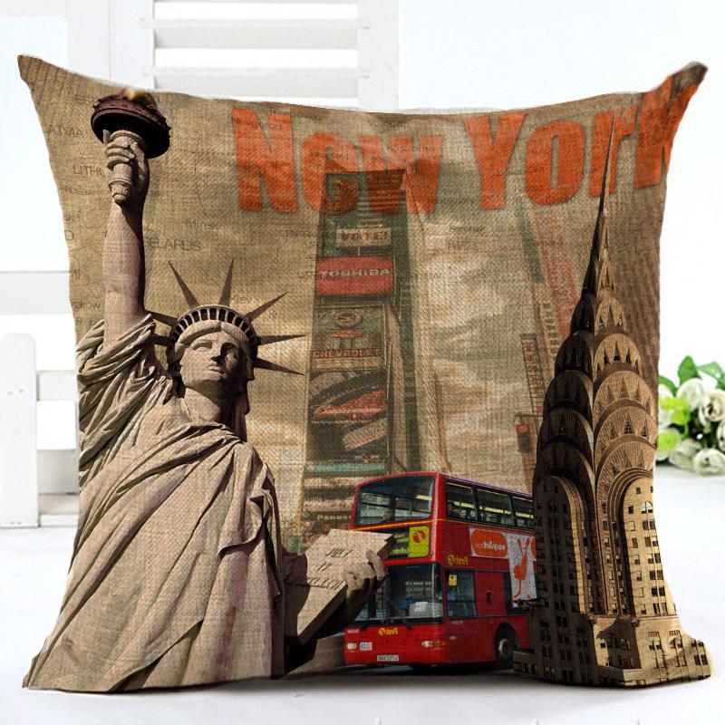 Fashion style vintage european building chair cushion - Fundas cojines sofa ...