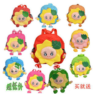 Free shipping baby girl selling flowers cute baby Packbag kids bags(China (Mainland))