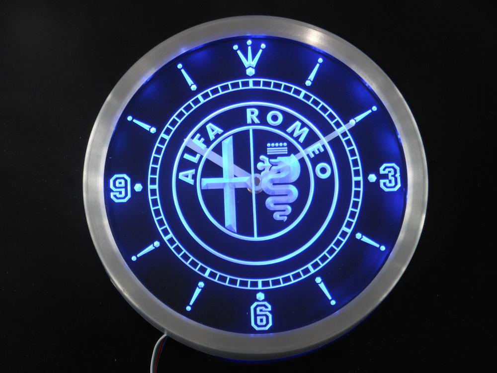 nc0172 Alfa Romeo Neon Sign LED Wall Clock Wholesale Dropshipping