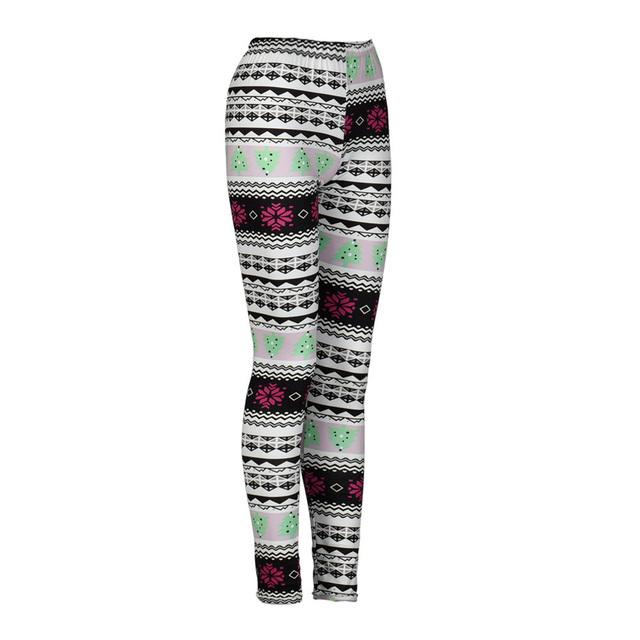 Geometry Print Christmas Leggings
