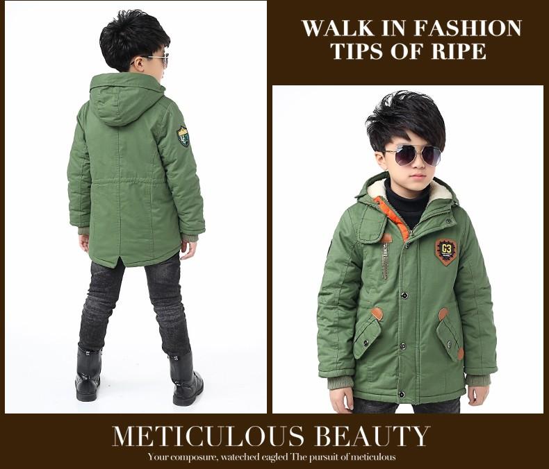 Скидки на Мальчики зимняя куртка вниз хлопок проложенный плюшевые вниз куртка для малыша мальчик с капюшоном сгущает теплый верхняя одежда пальто тепловой детская одежда