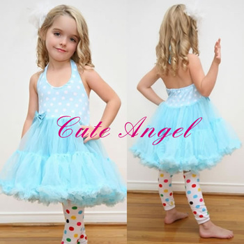 Tutu dress  Baby Girls Dresses Kids Clothing dot dress 5pcs/lot Free Shipping 5colors