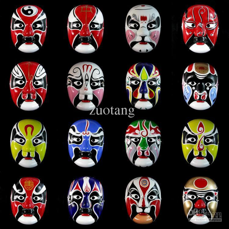Paper Mache Mens Masquerade Mask , Chinese Opera Masks , Decorative Wall Masks 100pcs/lot mix Free
