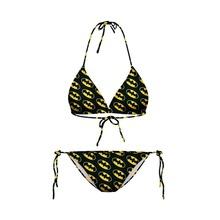 New Arrival Sexy Women 3D batman printing Bikini Sexy Swimwear Beachwear Swimsuit Bikinis Set(China (Mainland))