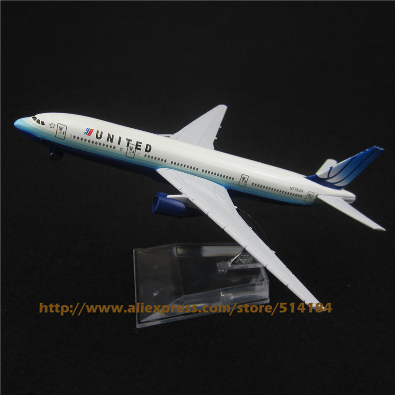 16cm Alloy Metal American Air United Airlines Airplane Model Boeing 777 B777 Airways Plane Model w Stand Aircraft Toys Gift(China (Mainland))