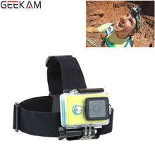 GEEKAM Go Pro Elastic Adjustable Head Strap Headstrap Mount Belt Anti-slide Mount For Gopro Hero3 3+ 4 sj4000/5000 Accessories