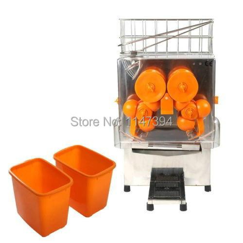 free shipping commercial 220V 110V CE food grade electric orange juicing machine juicer orange press orange juice extractor(China (Mainland))
