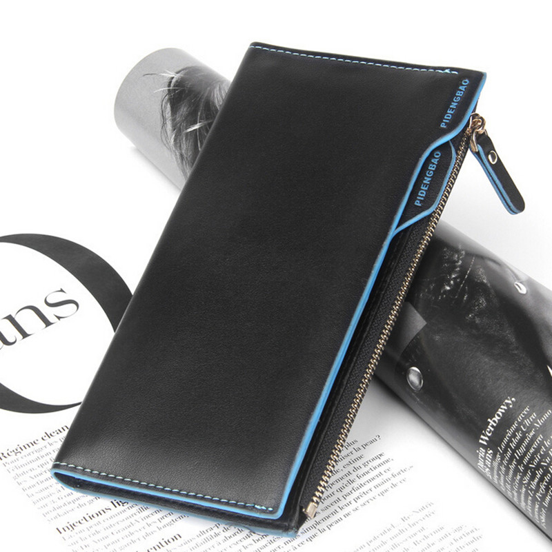 Fashion zipper wallets clutch men purse long genuine leather wallets multifunction big capacity carteira masculina free shipping<br><br>Aliexpress