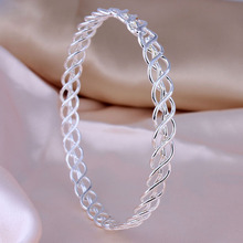 hollow out Hot sale Silver bracelet Bangles luxury cheap net Women Jewelry Suitable fashion vintage Silver Clasp Charm Bracelet(China (Mainland))