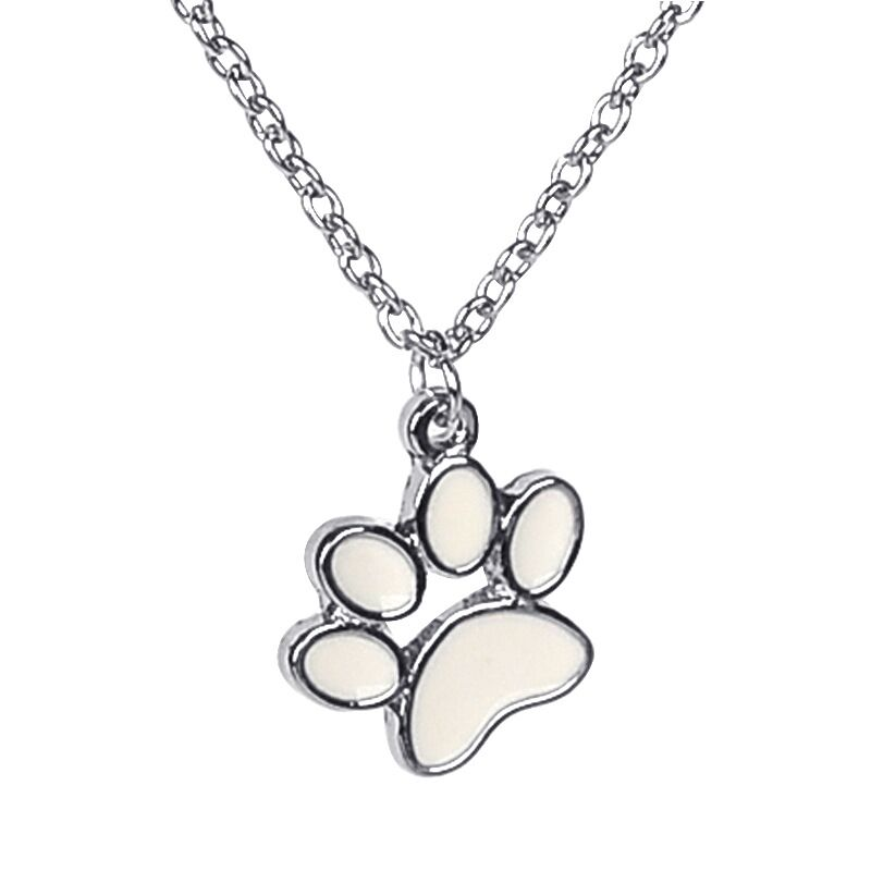 1pcs silver plated alloy punk kittey kitten cat dog Lion bear wolf Tiger Claw Paw prints handprint footprints pendant necklace(China (Mainland))