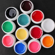 Free Shipping 12 pcs Colors Pure Colour uv gel, Uv gel Set, Builder Gel for nail art