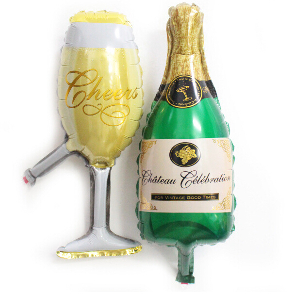Popular mini champagne gifts buy cheap mini champagne for Champagne balloon wall