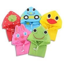 Kids Rain coat 2015new wateproof Cartoon Rainwear cute animal rainsuit free   shipping,LB1010(China (Mainland))