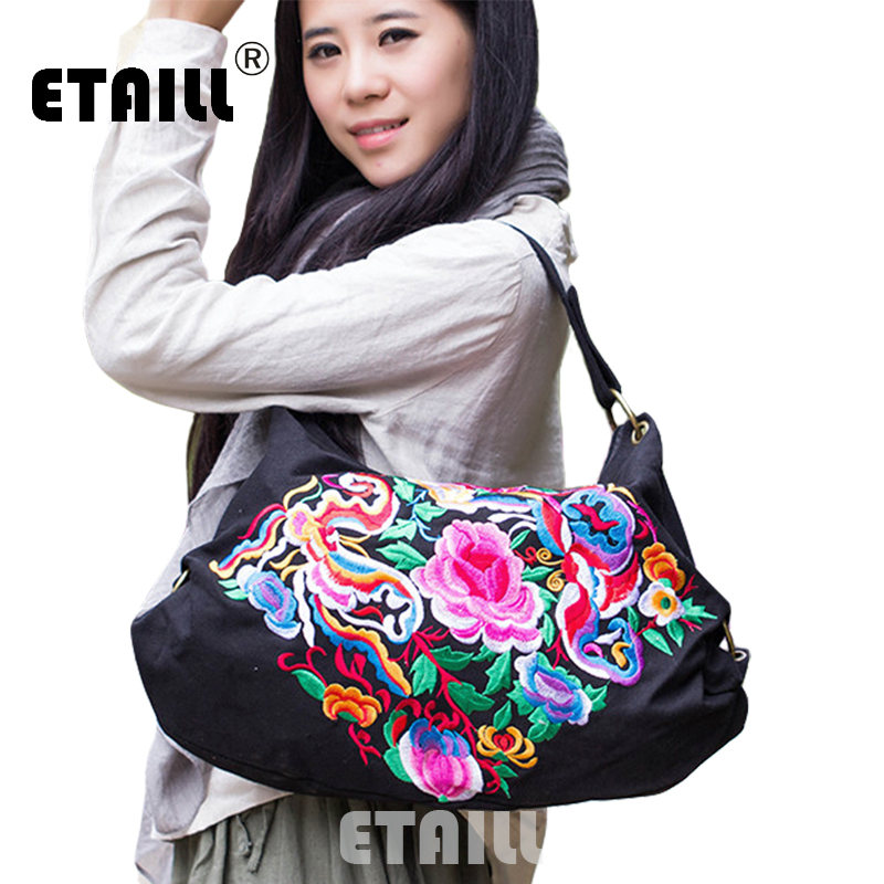 Folk Style National Ethnic Embroidered Bag Chinese Hmong Boho Indian Embroidered Shoulder Bags Famous Brand Logo Bag And Handbag(China (Mainland))