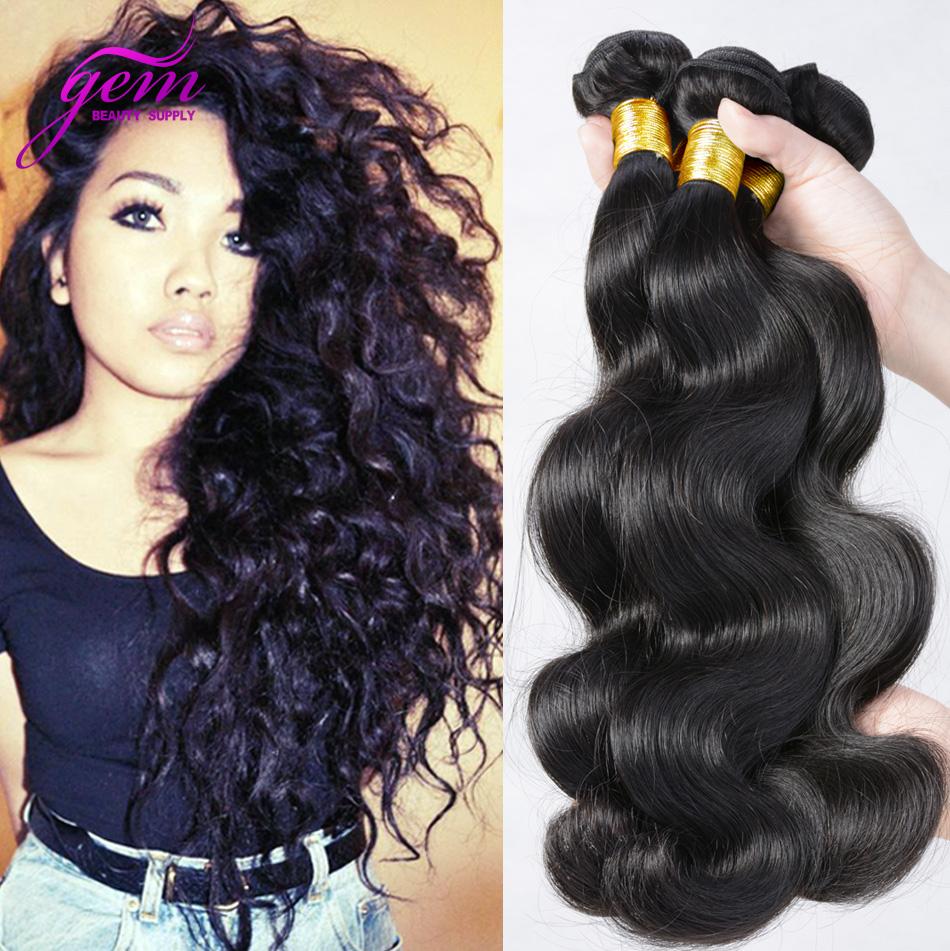 Brazilian Virgin Hair Brazilian Body Wave 4pcs lot Unprocessed Virgin Human Hair Extensions Brazilian Hair Weave Bundles 1b Soft(China (Mainland))