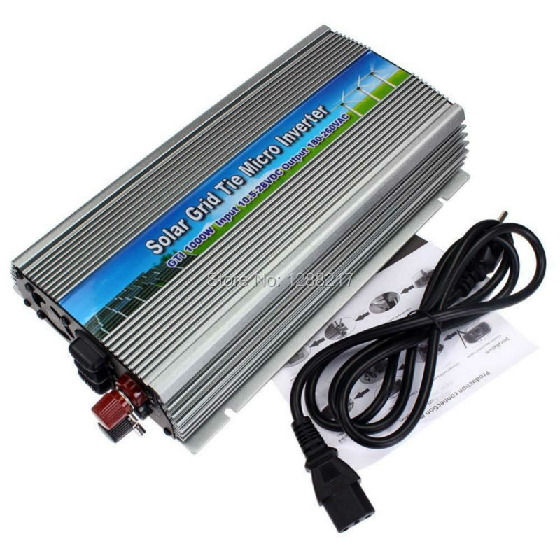 1000W Grid Tie Inverter for 18V Solar Panel, MPPT function, DC 10.5~28V to AC 90-140V Pure Sine wave Micro On Grid Tie Inverter(China (Mainland))