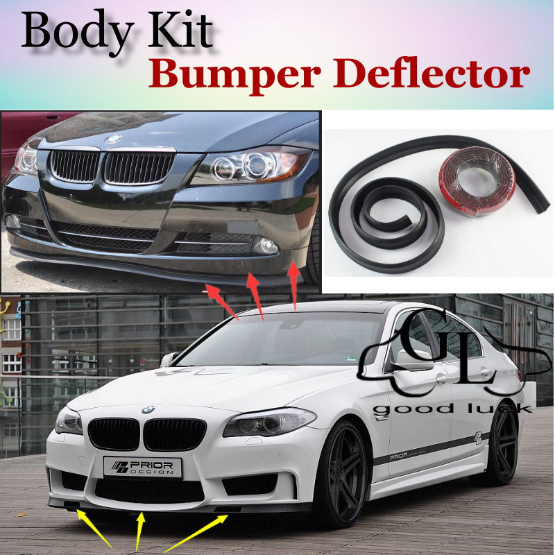 For BMW 5 M5 E28 E34 E39 E60 E61 F10 F11 F07 1988~2015 Bumper Lip Deflector Spoiler For Car Tuning / TOPGEAR Front Skirt / Strip<br><br>Aliexpress