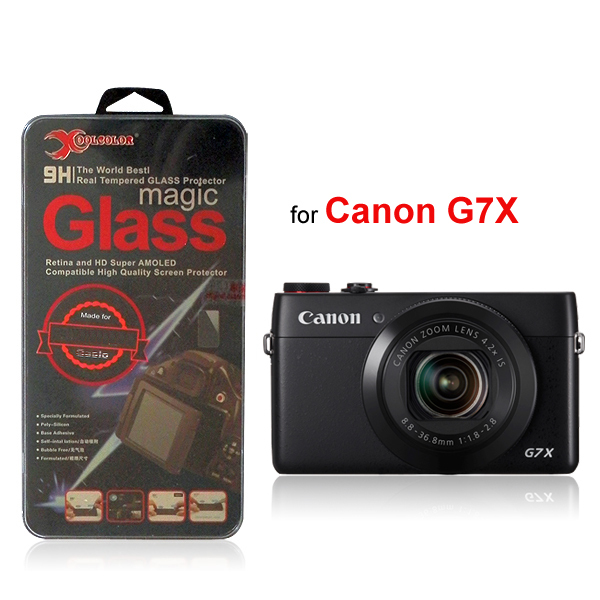 (2pcs/lot) 2.5D Round Edge 9H Real Tempered Glass Screen Protector for Canon PowerShot G7X G7 X / G7X II Digital Camera(China (Mainland))