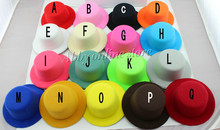 """17color 5"""" Solid Felt Mini Top Hat Fascinator base Women Millinery Party Hat 50pcs/lot Free shipping(China (Mainland))"""