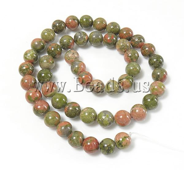 Free shipping!!!Unakite Beads,Trendy, Round, natural, 14mm, Hole:Approx 1.5mm, Length:Approx 15.5 Inch, 5Strands/Lot