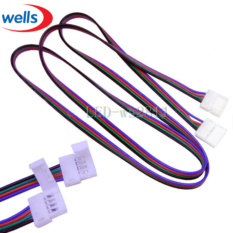 NEW 1m LED RGB cable wire extension cord for LED 5050 RGB Strip connector(China (Mainland))