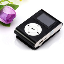 Beautiful Gift 100% Brand New 2016 USB Clip MP3 Player LCD Screen Support 32GB Micro SD TF Card Blue Free Shipping Dec08