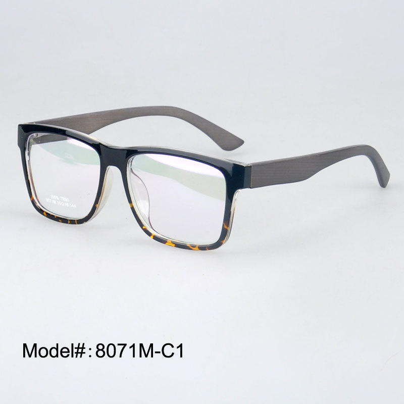 Super Lightweight Eyeglass Frames : 8071 Full rim wood temple super light TR90 eyeglasses ...