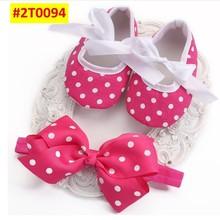 Soft Soled Girls baby Shoes Rhinestone Headband Set,Cute Toddler Boots,Sapato Bebe,Christening Baptism Shoes,Shower Gift,#2T0059(China (Mainland))