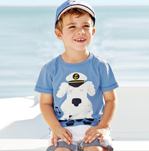 Branded Cute Boys Printing Sports Clothing 100% Cotton Summer O-neck Toddler Kids Clothes Short Sleeve Tops Tee T-Shirt t shirt