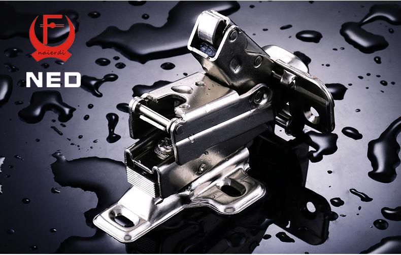 2PCS NED V165 Full Size 175deg Hydraulic Buffer Hinge Rustless Iron Buffering Soft Close Cabinet Cupboard Furniture Door Hinges(China (Mainland))