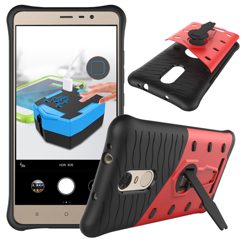 360 Degree Kickstand Design TPU+PC Shockproof Armor Cell Phone Cases Cover for Xiaomi Redmi Note3 Note 3 Case Smartphone Holster(China (Mainland))