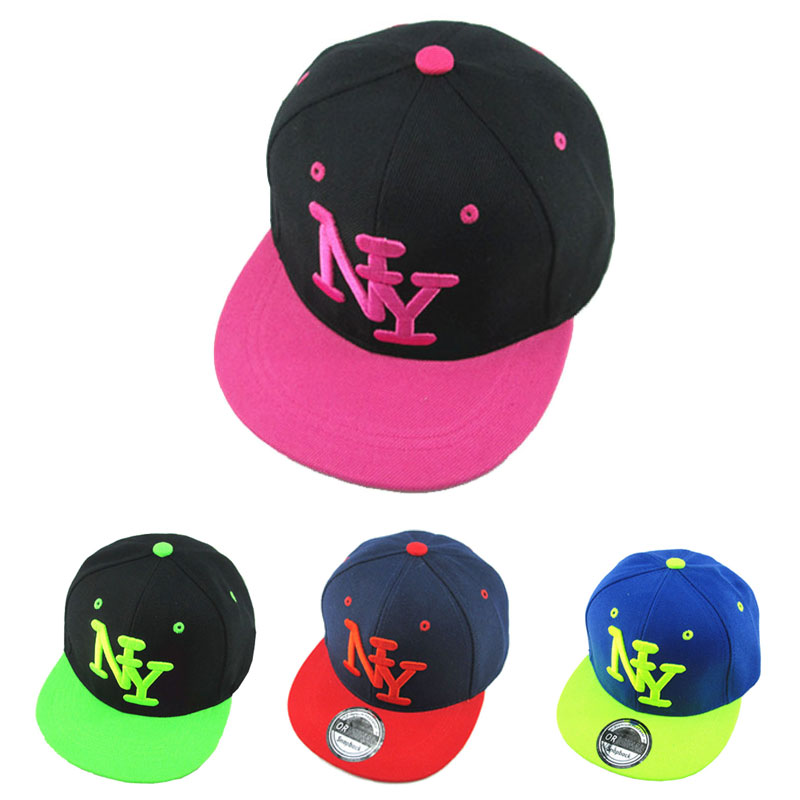 2016 Children NY Letter Baseball Cap Cayler Sons Bones Snapback Hip Hop Fashion Flat Hat for Kid Boys And Girls Casquette(China (Mainland))