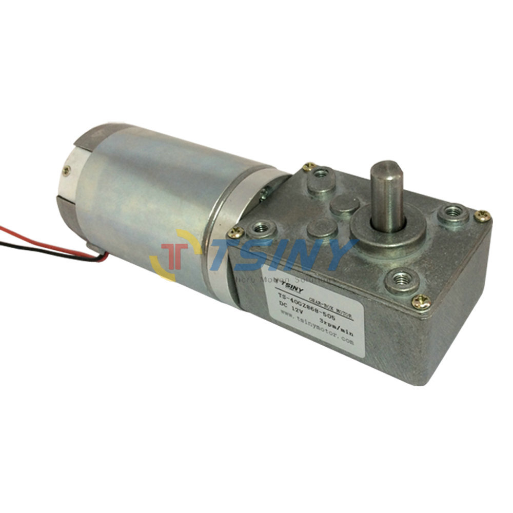 Dc 12v 3rpm High Torque Low Speed Worm Gear Motor Planet