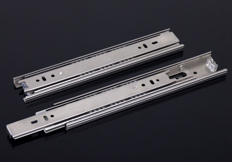 Furniture, computer desk drawer rail track three ball ultra-quiet thicker side-mounted rails(China (Mainland))