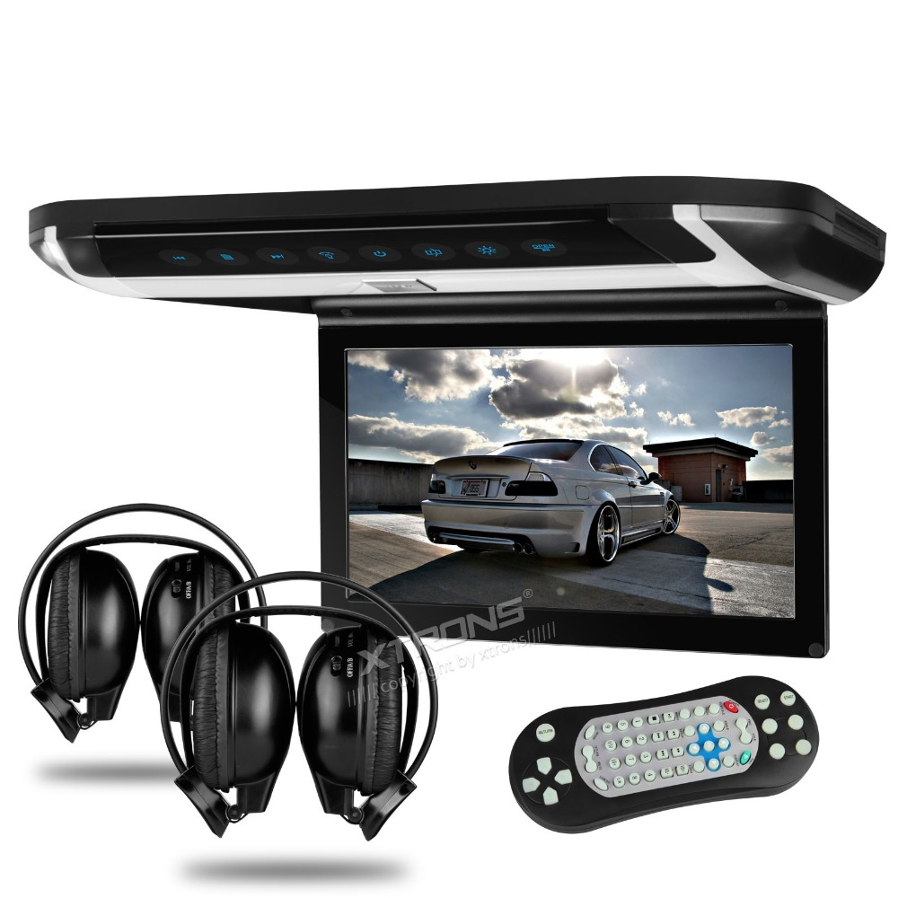 """10"""" Flip Down Car DVD Car Roof DVD Roof Monitor Car DVD with 2 IR/FM Headphones & Built-in HDMI Port & Sleek/Elegant Touch Panel(China (Mainland))"""