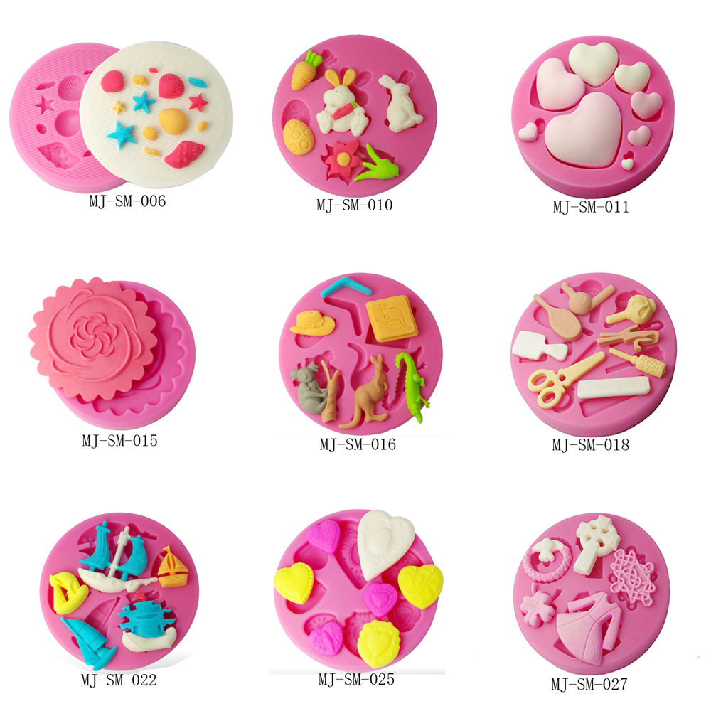 Fondant cake decorating molds multi-shaped heart vegetable Five-pointed star cupcake 3D dessert biscuit moulds free shipping(China (Mainland))