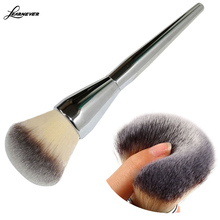 Very Big Beauty Powder Brush Makeup Brushes Blush Foundation Round Make Up Large Cosmetics Aluminum Brushes Soft Face Makeup(China (Mainland))